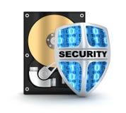 HDD och säkerhet Arkivfoto