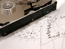 Free HDD On Blue Prints Stock Photos - 633