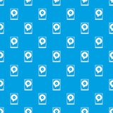 HDD pattern seamless blue Royalty Free Stock Image