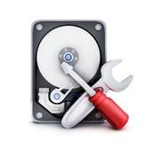 HDD and repair symbol Stock Image