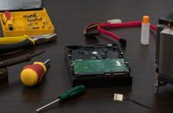 HDD and repair tools Stock Photos
