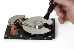 HDD Reparatur Stockfoto