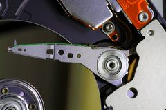 HDD seen inside royalty free stock image