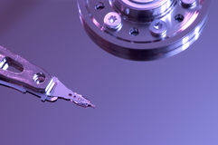 Hdd surface. Hard disk drive with its cover open royalty free stock image