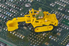 HDD with toy crawler mounted Royalty Free Stock Photos