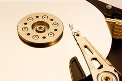 HDD - Una unidad de disco duro está abierta Imagen de archivo libre de regalías