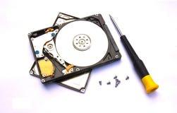 HDD und Reparatur-Set lizenzfreie stockbilder