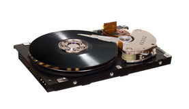 HDD  with vinyl disk instead of magnetic plate Stock Photos