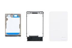 HDD y caso externo del recinto Foto de archivo libre de regalías