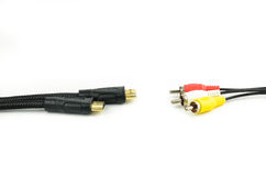 HDMI Cable and Auido Video Cable Royalty Free Stock Images