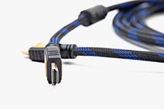 HDMI cable close up isolated Royalty Free Stock Image