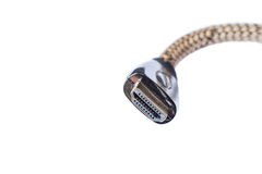 HDMI Cable Connector. Close up view of HDMI connector isolated in white background Stock Photography