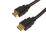 HDMI cable isolated on white Stock Images