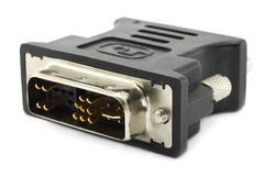 HDMI connector for the monitor Stock Photography