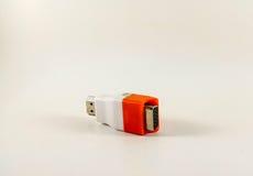 HDMI-CONVERTOR MET PRESPECTIVE-HOEK Stock Foto