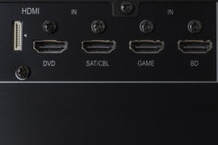 HDMI input Stock Image