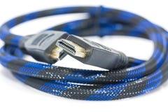 HDMI-Kabel auf einem weißen Hintergrund Stockbild