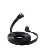 HDMI-Kabel in Form einer drohenden Lage der Schlange Getrennt Lizenzfreies Stockbild