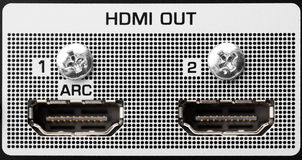 HDMI out port Stock Photos