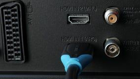 HDMI y puertos del monitor almacen de video