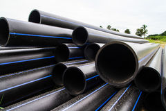 HDPE pipe for water supply Royalty Free Stock Photos