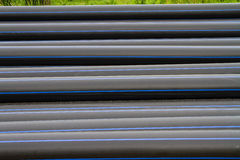HDPE pipe for water supply Royalty Free Stock Photo
