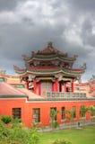 hdr传统台湾的寺庙 免版税库存照片