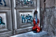 hdr小提琴 免版税库存图片