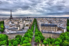 hdr巴黎 库存图片