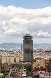 HDR被射击一个摩天大楼在巴塞罗那 免版税库存照片