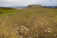 Hdr árido de la costa costa de la isla Foto de archivo libre de regalías