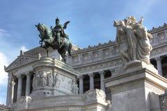 hdr εθνικό άγαλμα της Ρώμης φω& Στοκ Φωτογραφίες