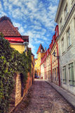 hdr φωτογραφία Ιππότες της μεσαιωνικής πόλης Στοκ Φωτογραφία