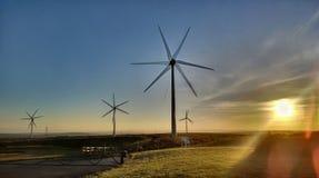 HDR ветротурбины в Корнуолле Стоковые Фотографии RF