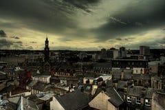 hdr города центра bradford стоковое изображение