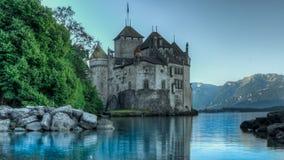 Hdr замка Chillon стоковое изображение rf