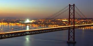 hdr моста над tagus Стоковые Фотографии RF