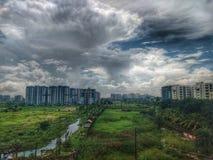 HDR сцены от моего балкона Стоковое Изображение RF