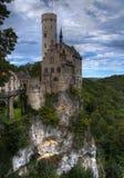 城堡hdr利希滕斯泰因 免版税库存图片