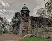 Старая водонапорная башня, Швеция в HDR Стоковое Фото