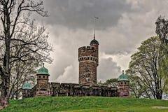 Старая водонапорная башня, Швеция в HDR Стоковое Изображение RF