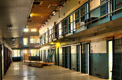 HDR of Abandoned Prison Cell Block Stock Photo