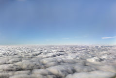 HDR Aerial photo of the landscape under a cloud cover and view stretching all the way to the horizon Stock Photography