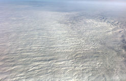 HDR Aerial photo of the landscape under a cloud cover and view stretching all the way to the horizon Stock Image