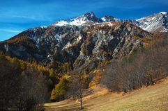HDR alpine landscape Royalty Free Stock Photography
