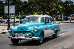 HDR american vintage car in Cuba Royalty Free Stock Images