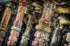 Hdr ancient pillars Royalty Free Stock Photos