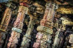 Hdr ancient pillars Royalty Free Stock Photos