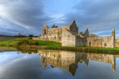 HDR of Askeaton Friary with reflection. 14th Century Franciscan Friary in Askeaton, Co. Limerick, Ireland Royalty Free Stock Photography