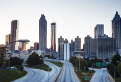 HDR of Atlanta Skyline stock photography